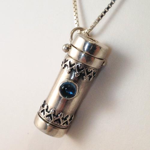 Healy Saturn Blue Topaz kaleidoscope jewelry